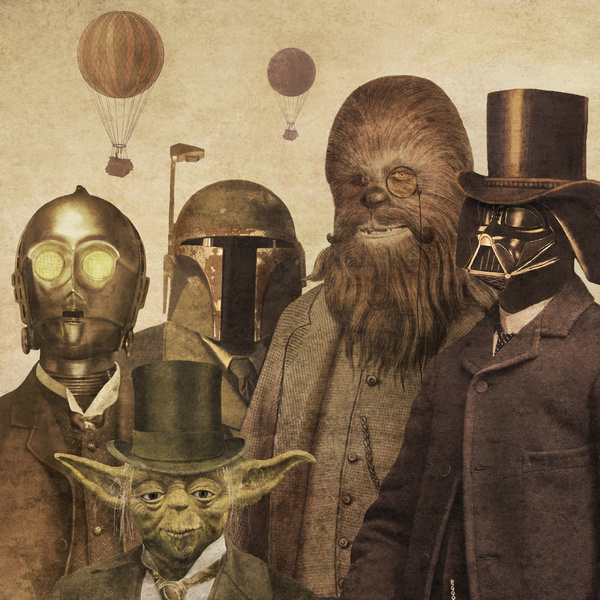 Victorian Wars - Star Wars Art by Terry Fan