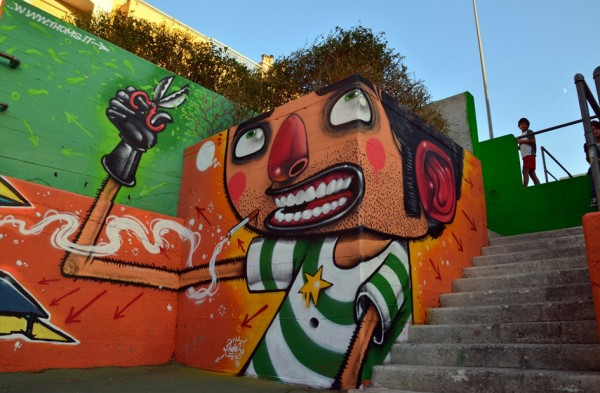 Hair Cut - Mural by Mister Thoms - Diego Della Posta