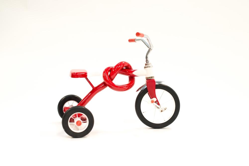 It's Knot a Bike - Sculpture by Sergio Garcia