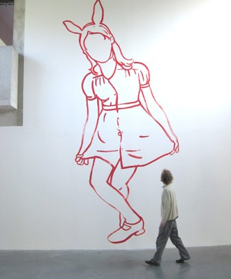 Centre d'Art Parc Saint-Léger, Pougues les Eaux, 2007 - Wall Drawing - Installation Art by Françoise Pétrovitch