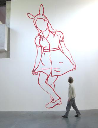 Centre d'Art Parc Saint-Léger, Pougues les Eaux, 2007 - Wall Drawing - Installation Art by Françoise Pétrovitch