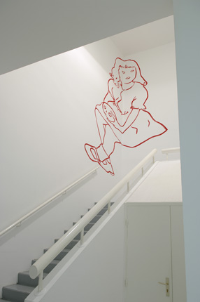 Musée d'Art Moderne de Saint-Etienne, 2008 - Wall Drawing - Installation Art by Françoise Pétrovitch