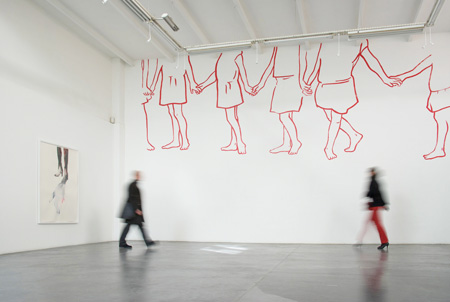 Atelier Soardi, Nice, 2009 - Wall Drawing - Installation Art by Françoise Pétrovitch