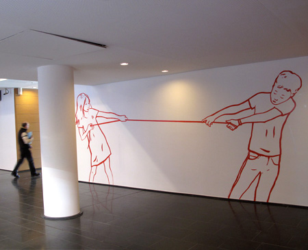 Commande de la Cité Internationale de Lyon, 2010 - Wall Drawing - Installation Art by Françoise Pétrovitch