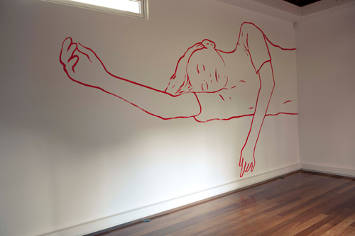 Galeria dos Prazeres, Madère, 2012 - Wall Drawing - Installation Art by Françoise Pétrovitch