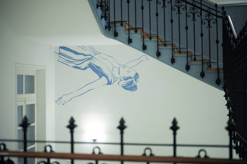 Commande de l'Institut Français de Madrid, 2013 - Wall Drawing - Installation Art by Françoise Pétrovitch