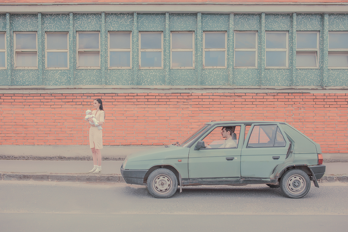 3 - Baby and Car - The Marriage - Photograph by Maria Svarbova