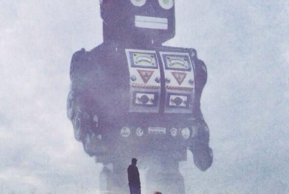 Beware of Giant Robots! - Art by Yuri Shwedoff