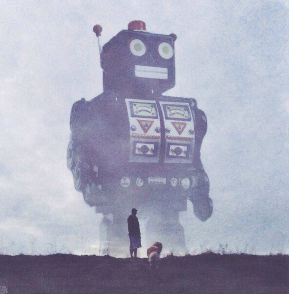 Beware of Giant Robots! - Art by Yuri Shwedoff