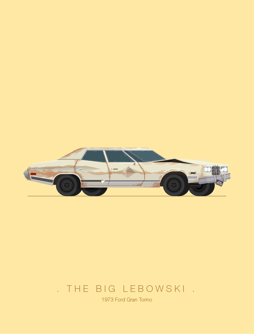 Famous Movie Cars Interpreted by Frederico Birchalarthaus