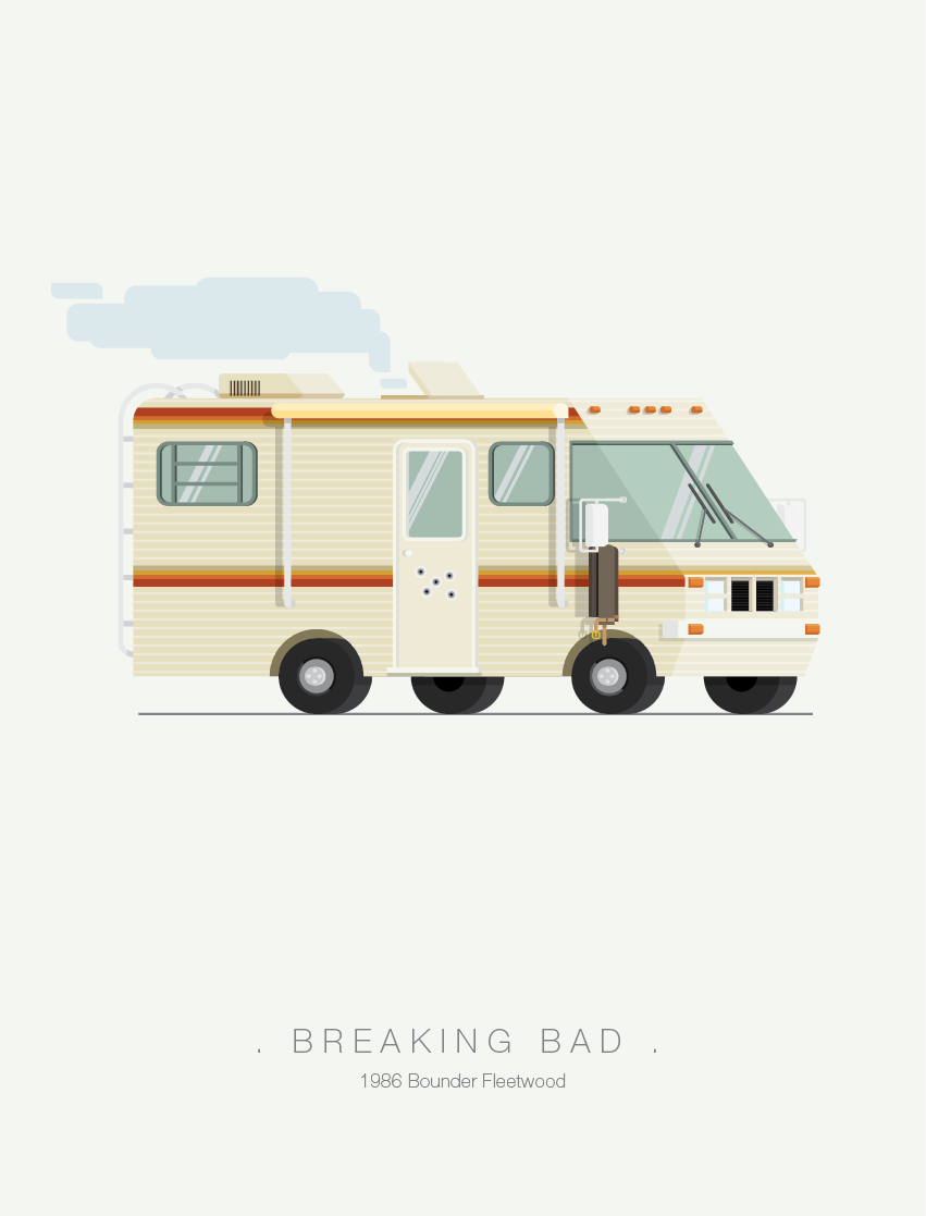 Breaking Bad - Famous Cars - Art by Frederico Birchal