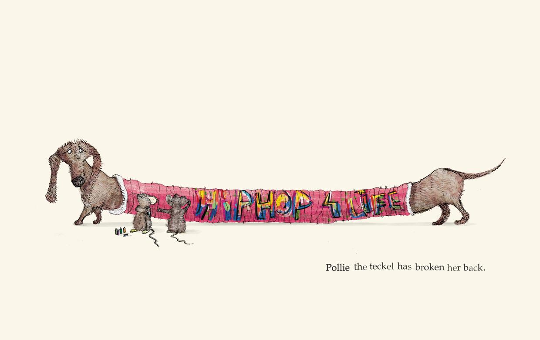 Pollie the teckel has broken her back - Broken - Picture Book by Pieter van den Heuvel