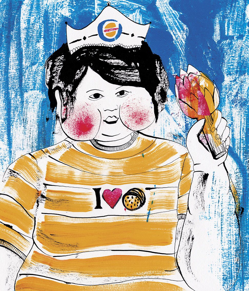 Burger Kid - Illustration by Lisa Gelli
