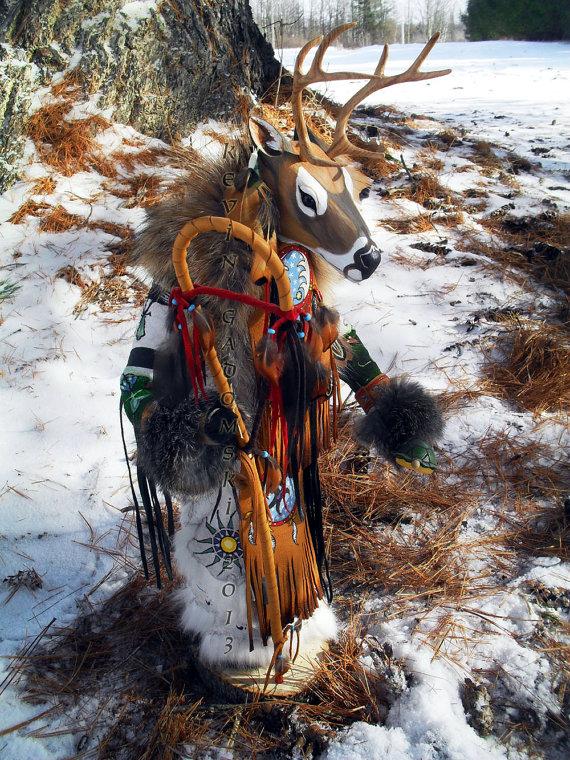 Deer - Manitou - Sculpture by Kevin and Tanner Gadomski