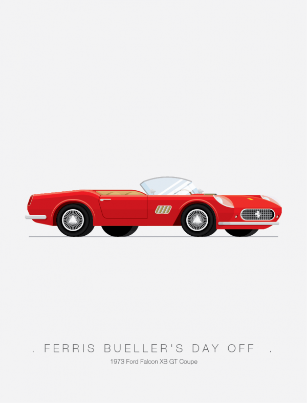 Ferris Bueller's Day Off - Famous Cars - Art by Frederico Birchal