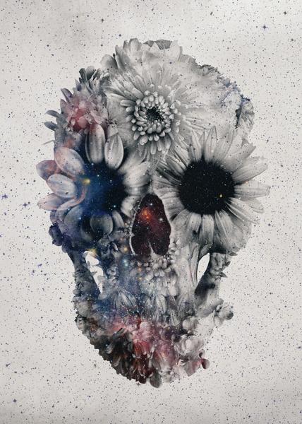 Floral Skull 2 - Art by Ali Gulec