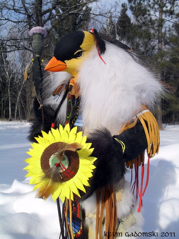Goldfinch - Manitou - Sculpture by Kevin and Tanner Gadomski