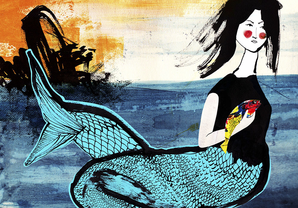 Il Pesciolino Marino - Illustration by Lisa Gelli