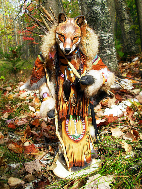 Lame Fox - Manitou - Sculpture by Kevin and Tanner Gadomski