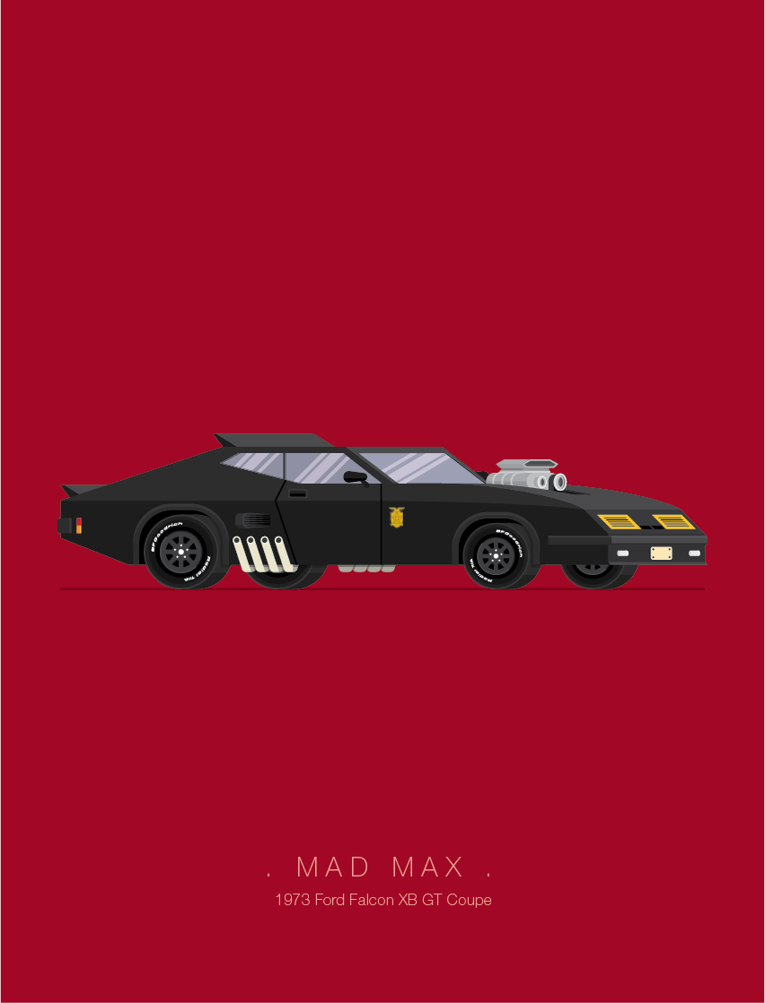 Mad Max - Famous Cars - Art by Frederico Birchal