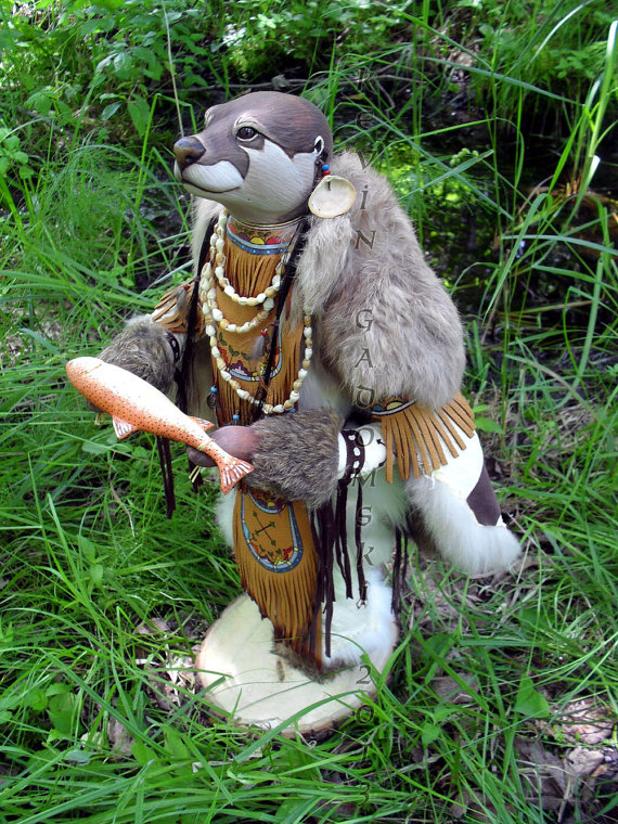 Otter - Manitou - Sculpture by Kevin and Tanner Gadomski