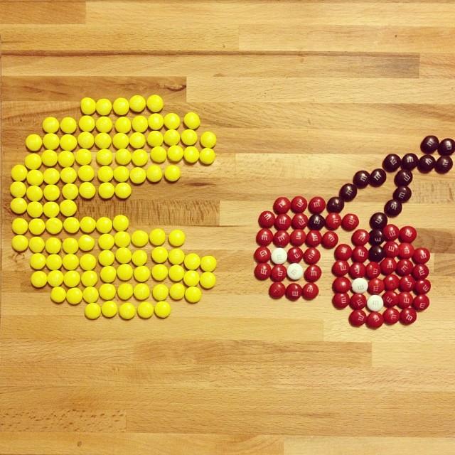 Pac Man M&Ms  - Art by Tisha Cherry @tishacherry