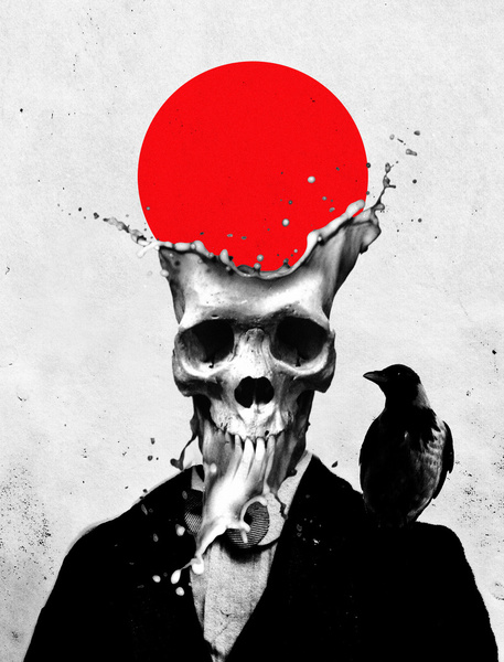 Splash Skull - Art by Ali Gulec