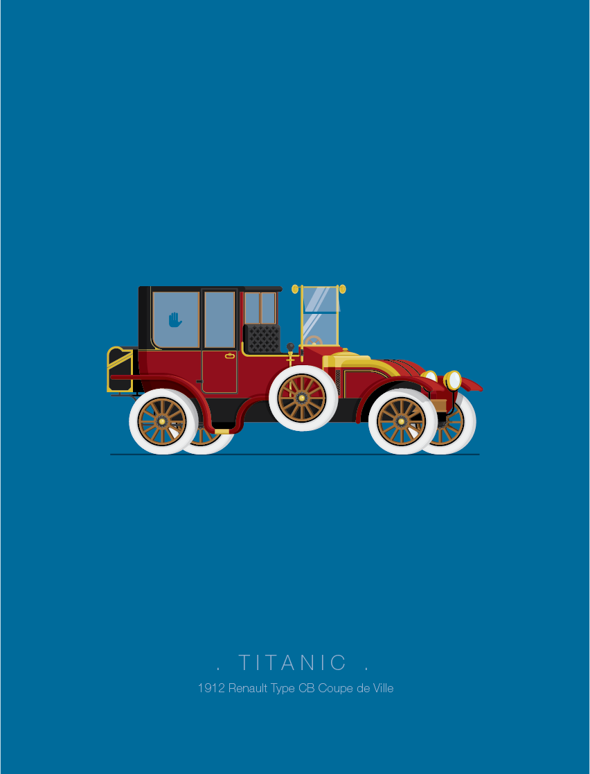 Titanic - Famous Cars - Art by Frederico Birchal