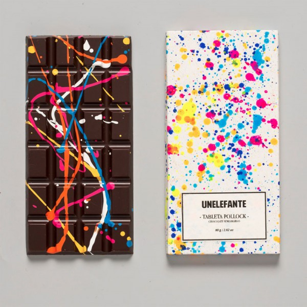 Jackson Pollock Chocolate Bar - by Elefante