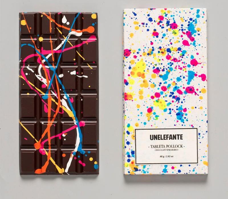 Jackson Pollock Chocolate Bar - by Elefante