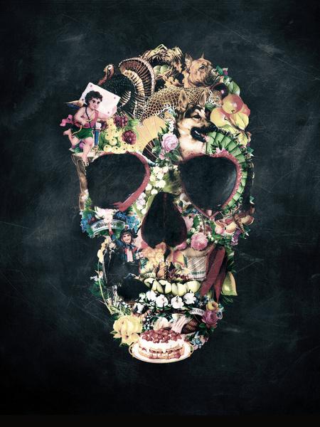 Vintage Skull - Art by Ali Gulec