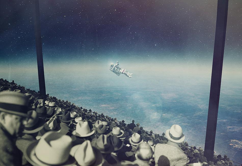 Astronaut - Collage Art by Joseba Elorza