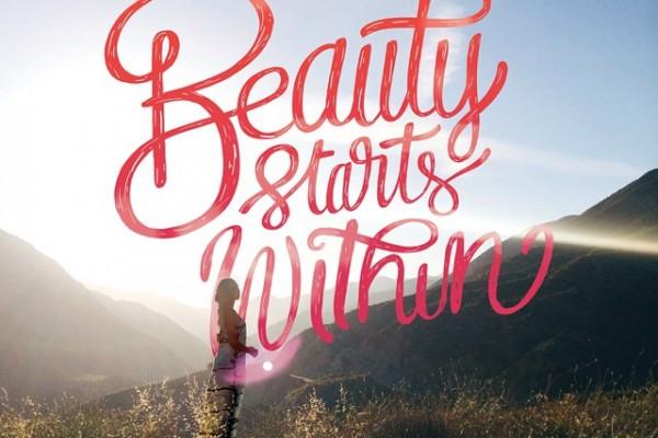 Beauty Starts Within - Typographic Art by Stefan Kunz