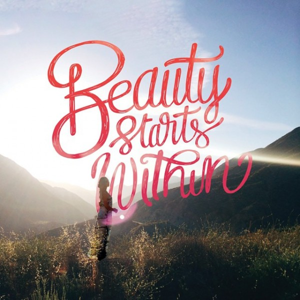Beauty Starts Within - Typographic Art by Stefan Kunz