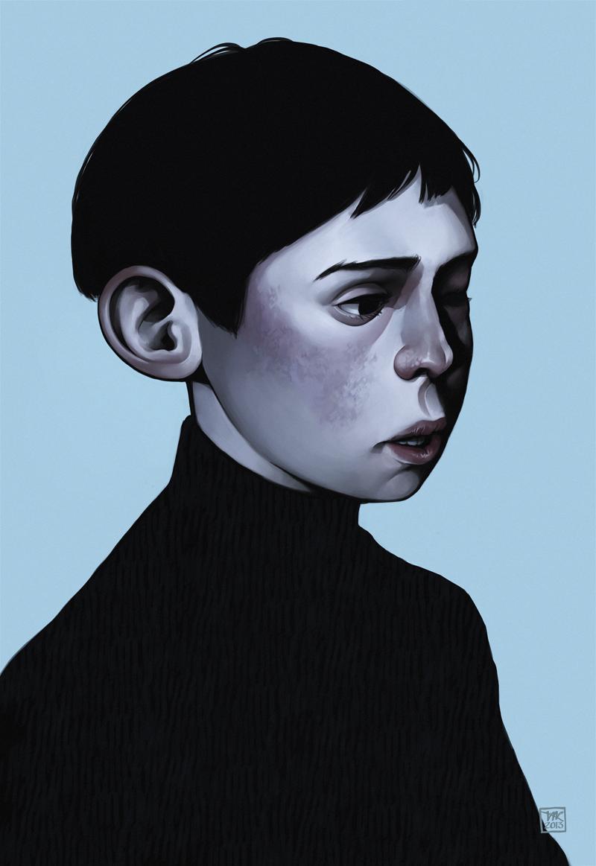 Blue - Digital Painting by Tiia Reijonen