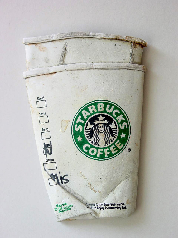 Starbucks - Coffee for Two - From the Street - Art by Tom Pfannerstill