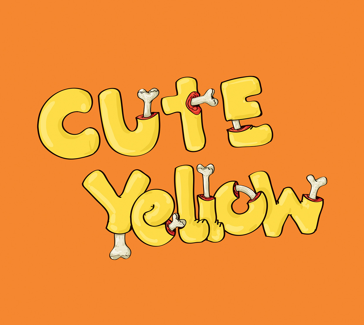 Cute Yellow - Art by Mahmoud Refaat