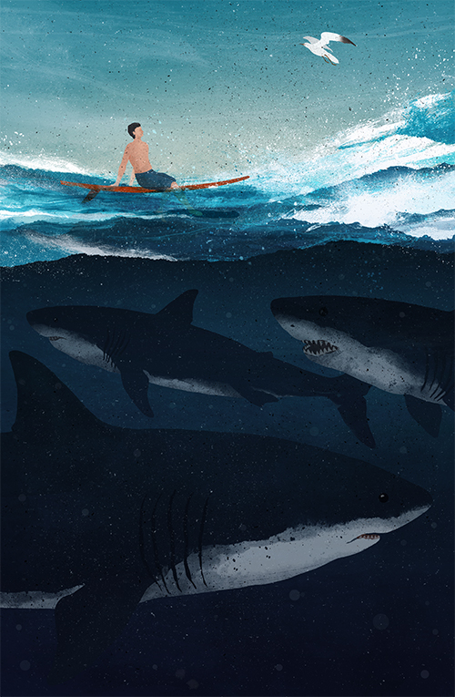 Distraction - Illustration by Gelrev Ongbico