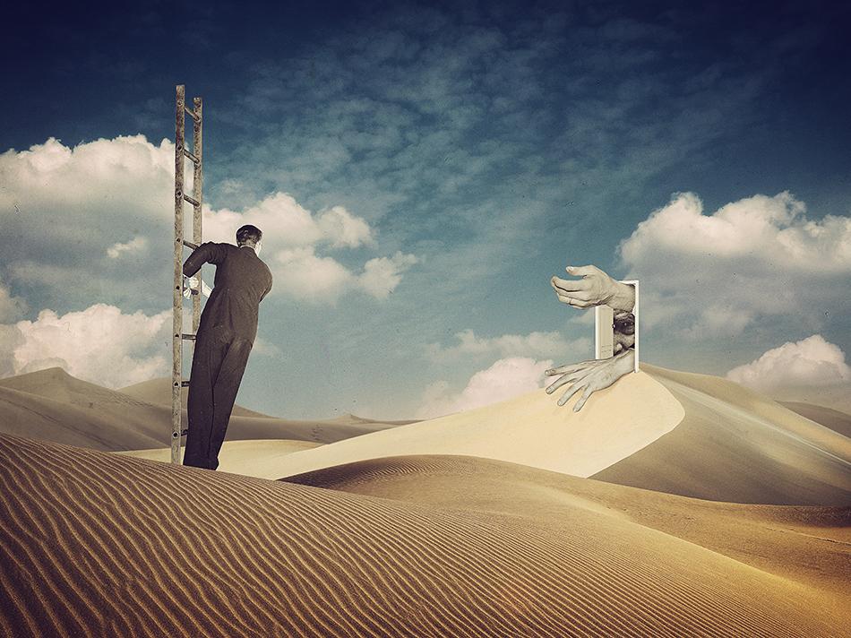 Door - Collage Art by Joseba Elorza
