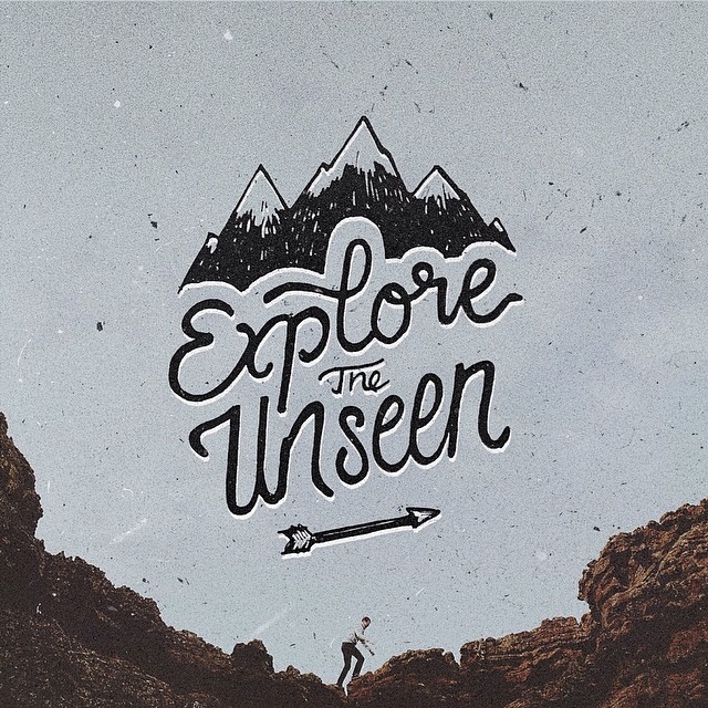 Explore the Unseen - Typographic Art by Stefan Kunz