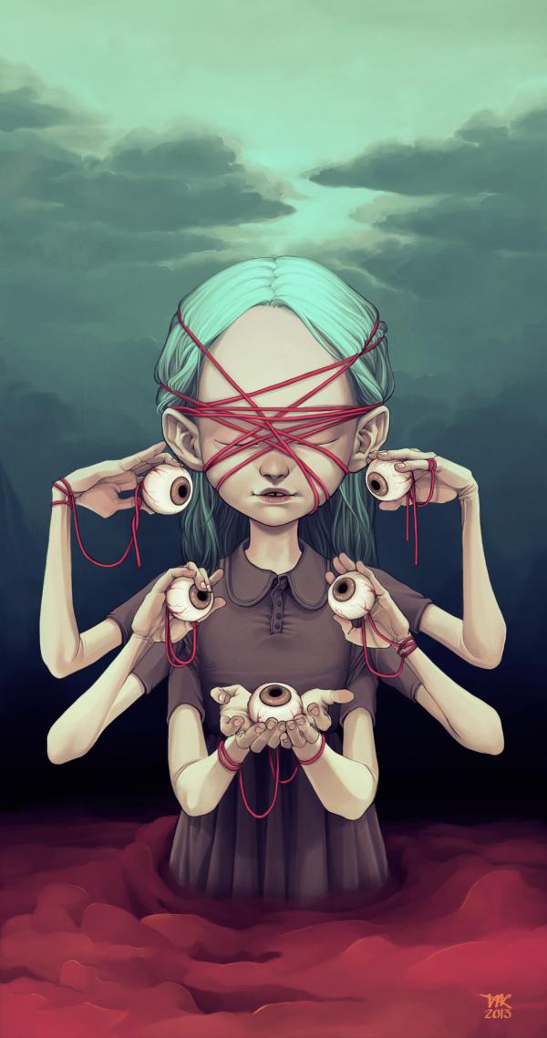 Harbinger - Digital Painting by Tiia Reijonen