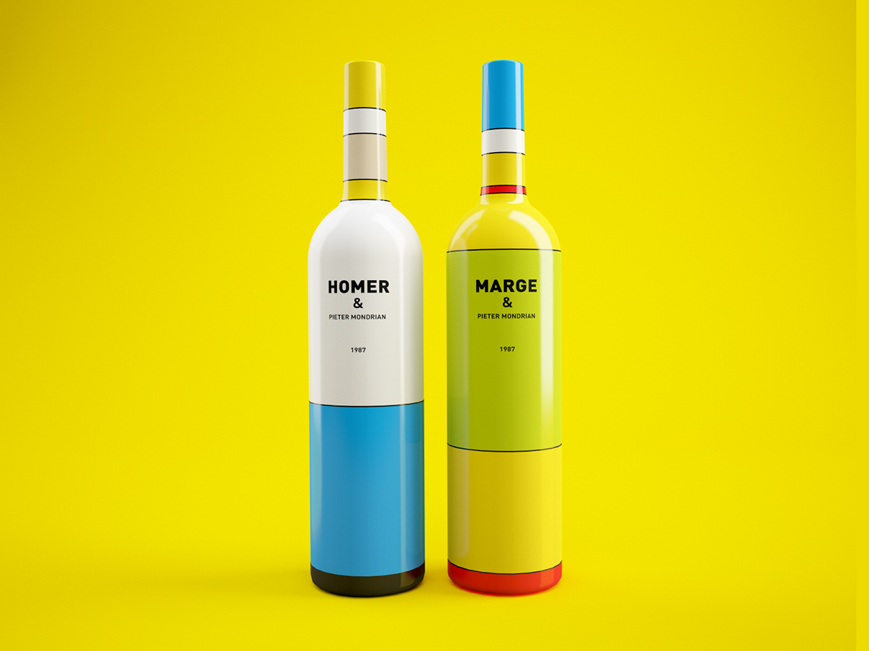 The Simpsons Wine Bottle Concept - Design by Constantin Bolimond