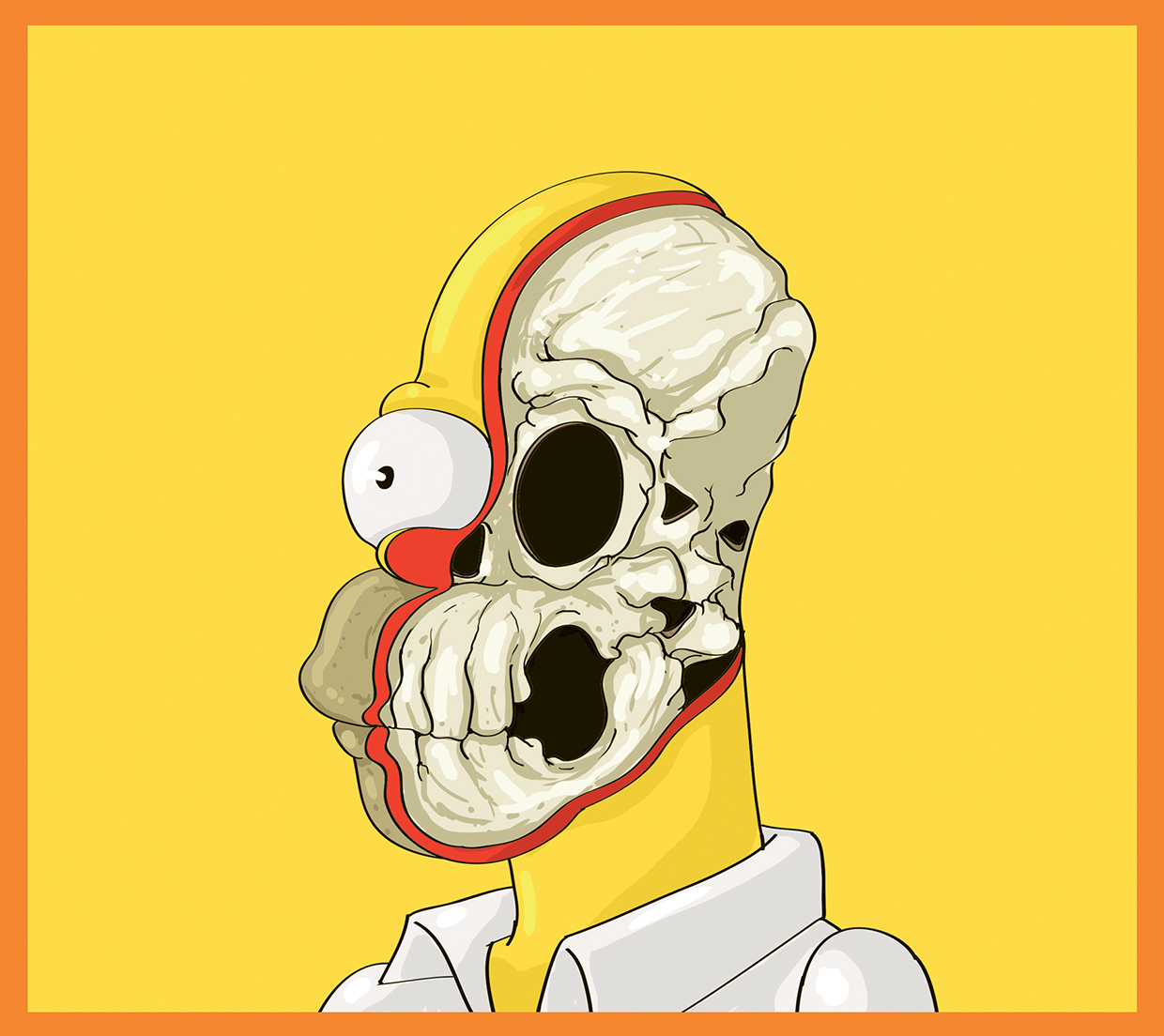 Homer Simpson - Cute Yellow - Art by Mahmoud Refaat