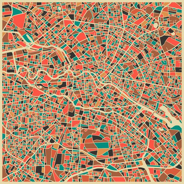 Berlin - City Map Art Prints - by Jazzberry Blue