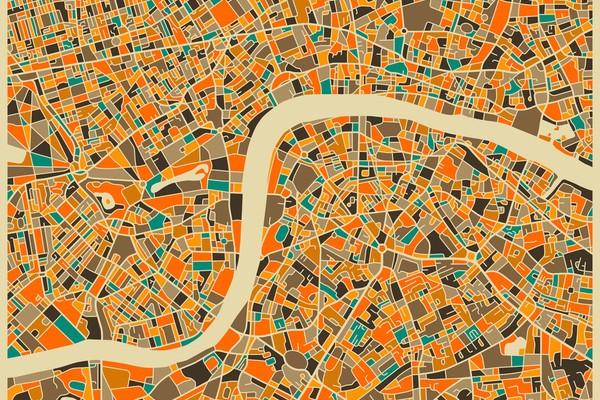 London - City Map Art Prints - by Jazzberry Blue