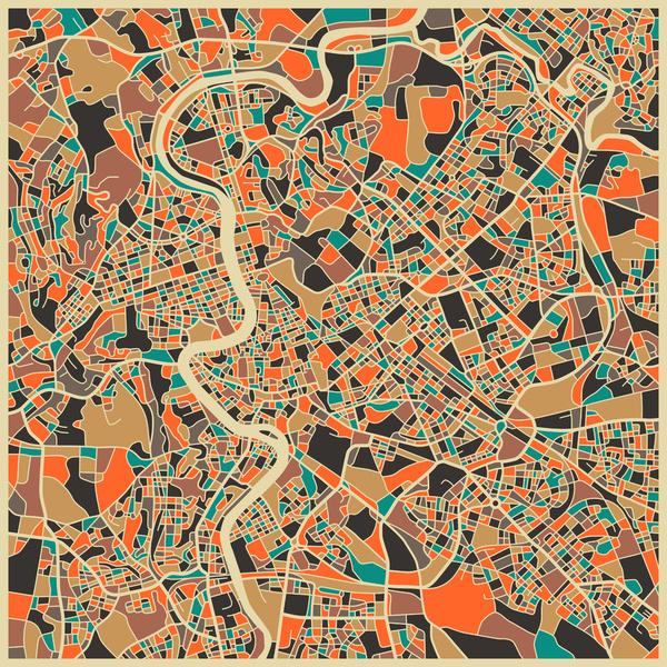 Rome - City Map Art Prints - by Jazzberry Blue