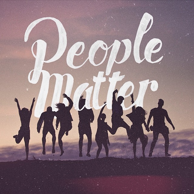People Matter - Typographic Art by Stefan Kunz