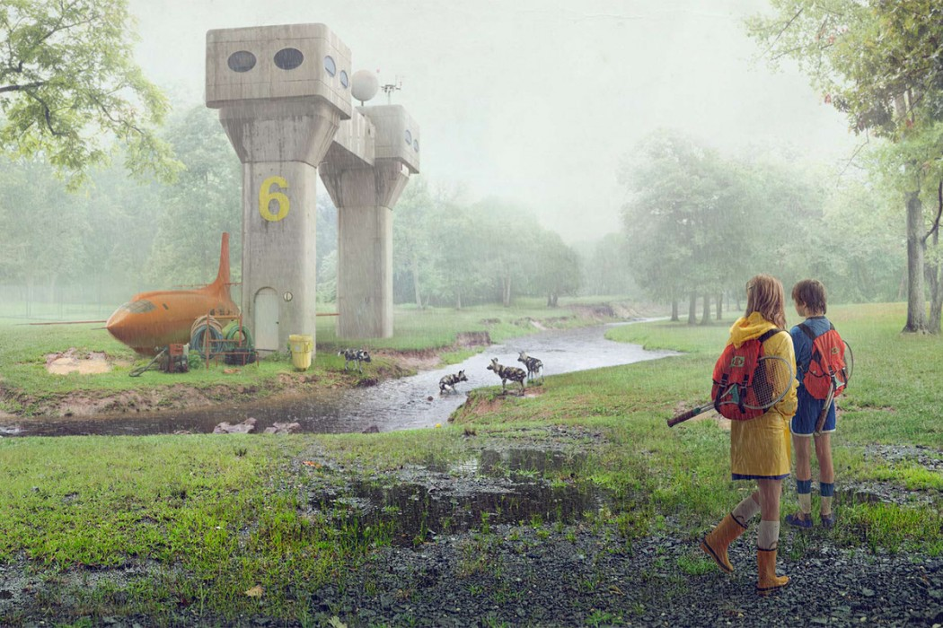 Station 6 in rain - Project Astoria: Test 01 - Art by Todd Baxter