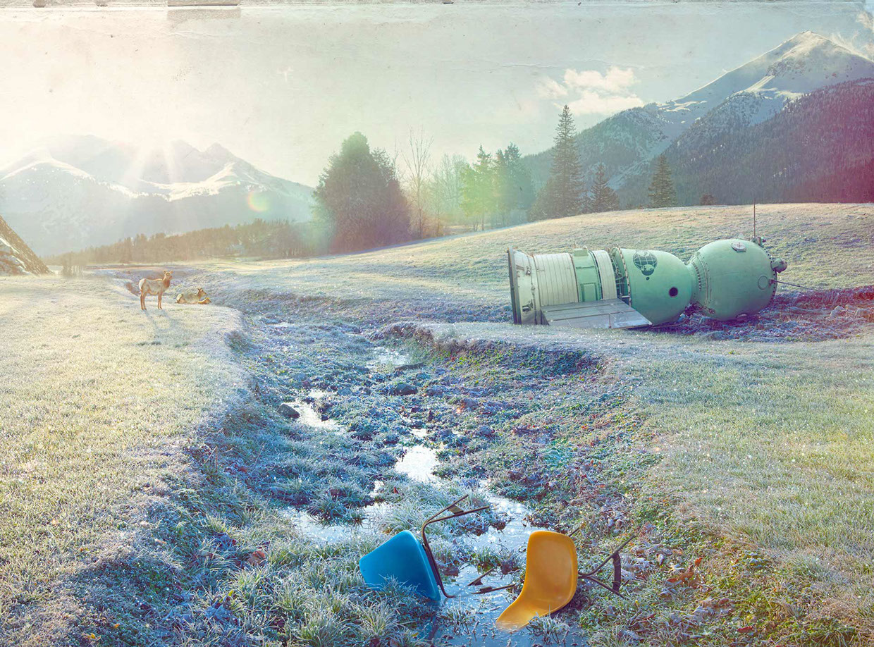 Frosty field with chairs - Project Astoria: Test 01 - Art by Todd Baxter