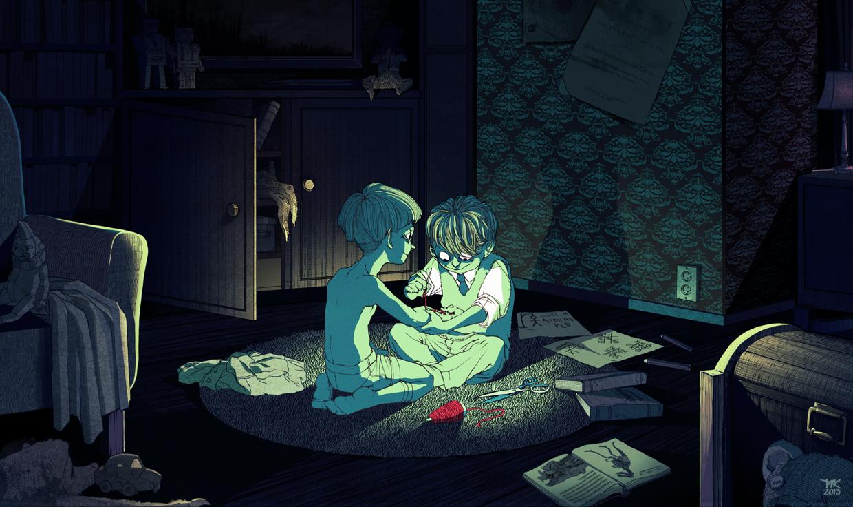 (Second) Playdate - Digital Painting by Tiia Reijonen